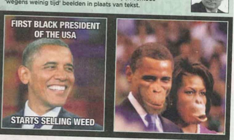 Enough with stereotyping black people as monkeys!