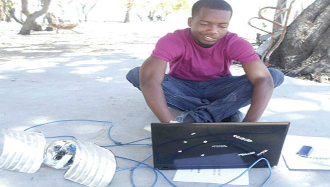 Young Namibian makes satellite booster from scrap