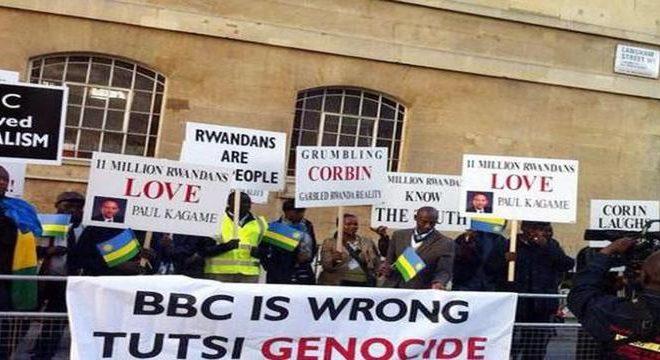 Rwandan Genocide survivors protest BBC documentary