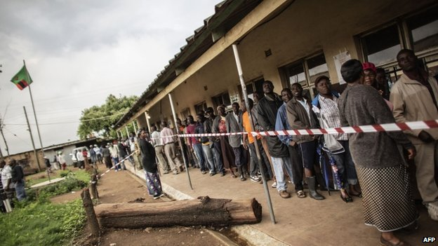Zambia suspends announcements of presidential election results