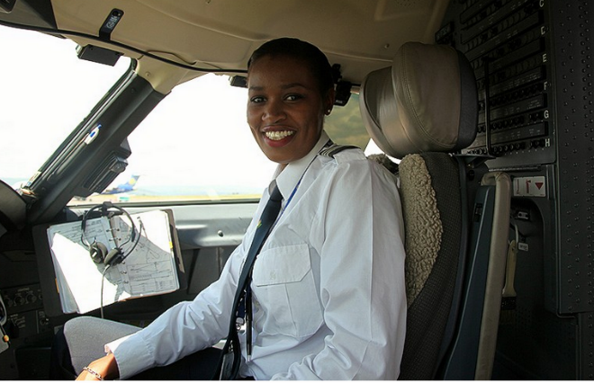 Pics: Esther Mbabazi – Rwanda's first female pilot #wcw