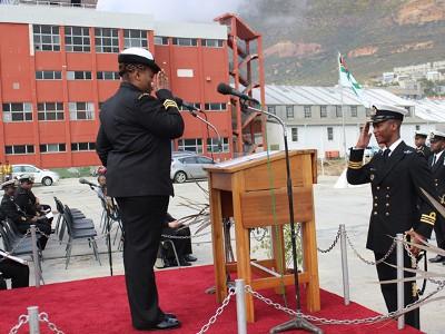 SA gets first black female naval combat commander