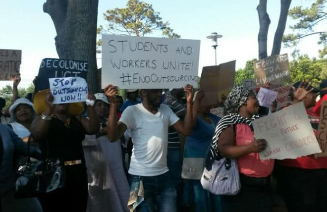 "UCT commits to ""insourcing"" – and other reports from the #FeesMustFall protests"