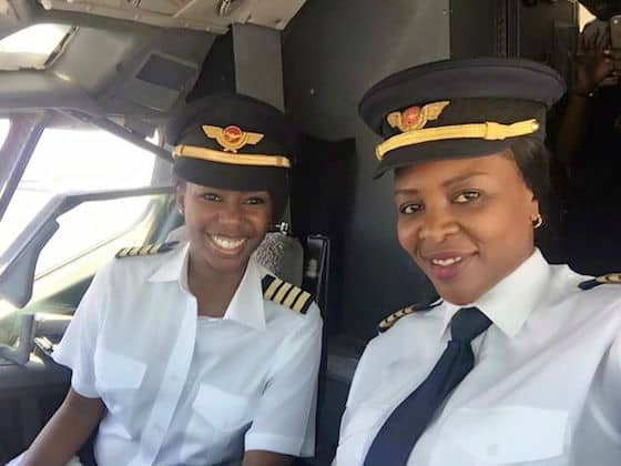 Zimbabwe's first all female flight deck crew