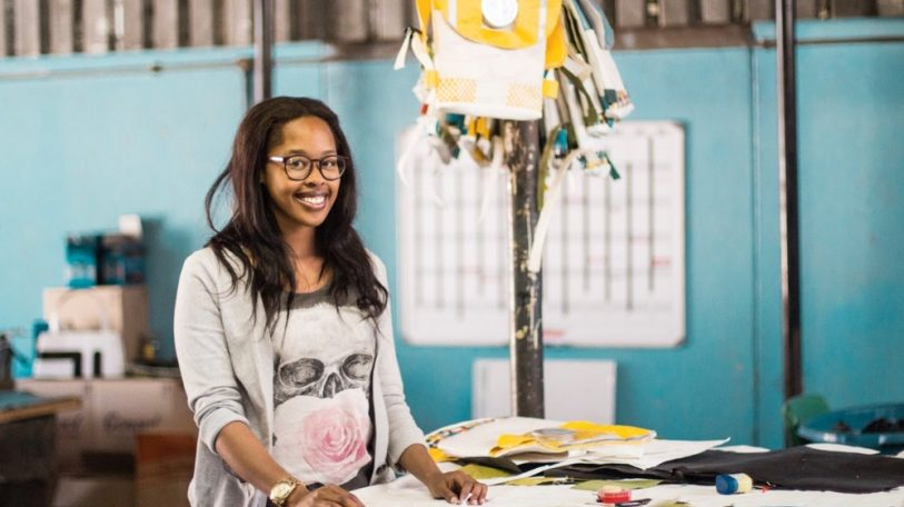 Studying with Thato Kgatlhanye's multipurpose schoolbag