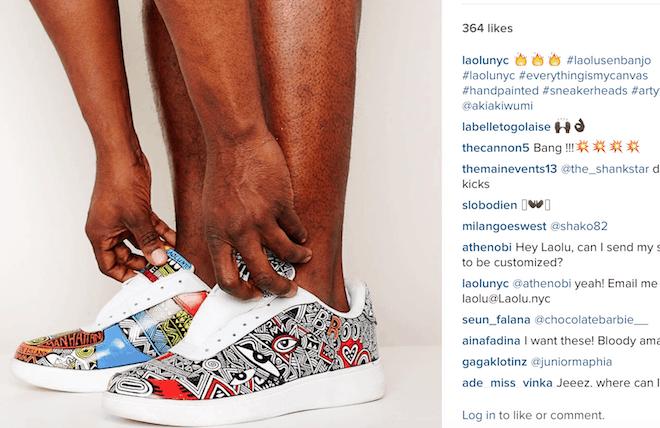 Nike hires Nigerian artist, Laolu Senbanjo to create Air Max inspired art