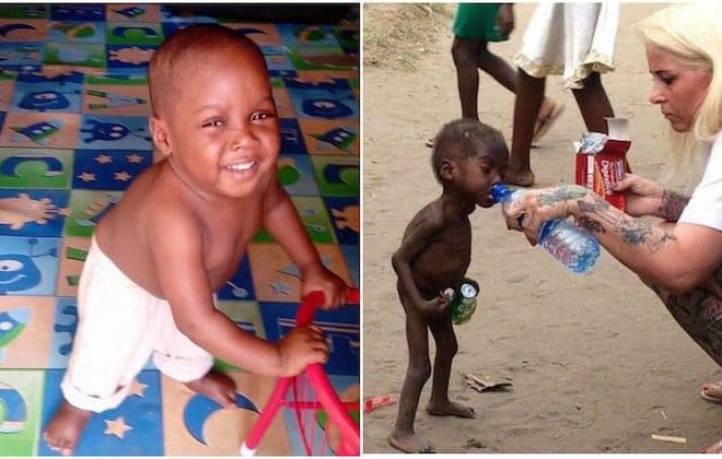 Survivor: Hope, rescued two year-old Nigerian boy 'accused of being a witch' makes remarkable recovery