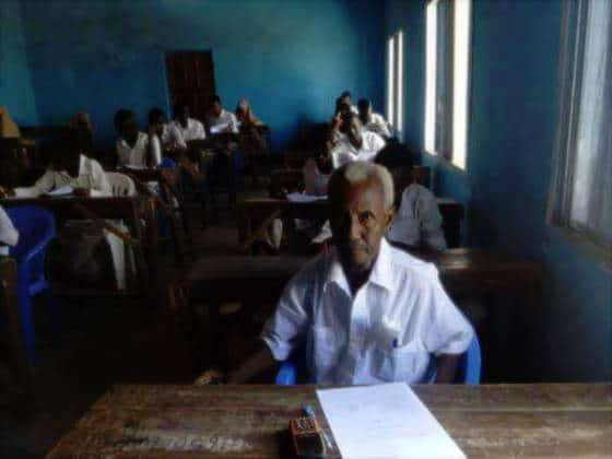 Somalia: 60 year-old Ahmadey Saney proves it's never too late to learn