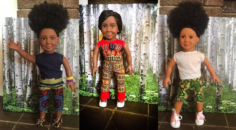Meet the A Girls, Ayah, Amani and Arefa: African dolls for African girls