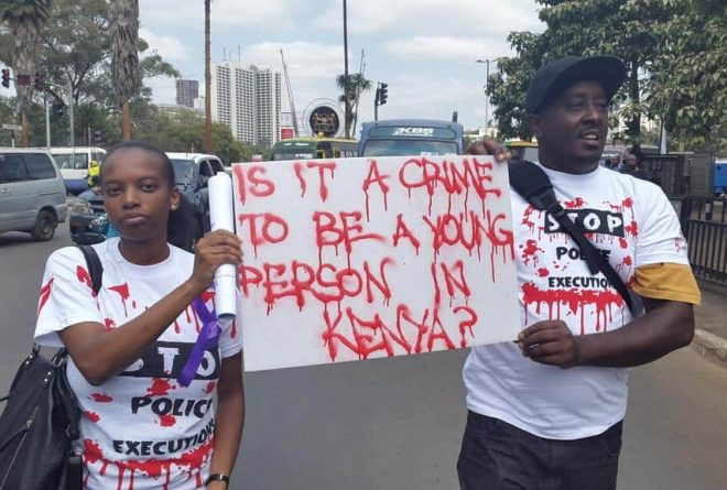 """Stop killing us!""Kenyans protest against extrajudicial executions"