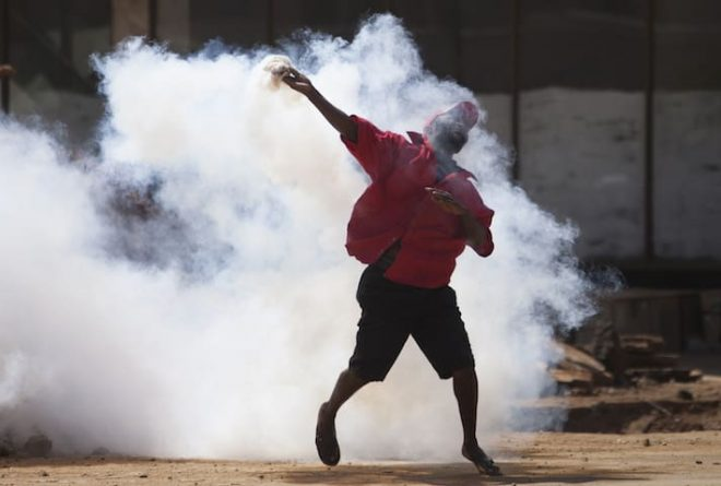 Pictures: Violent protests hit Harare