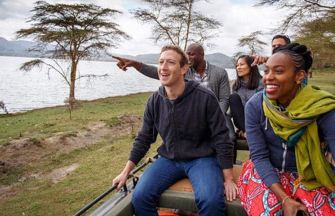 "Zuckerberg experiences Kenya's ""amazing natural beauty and wildlife"""