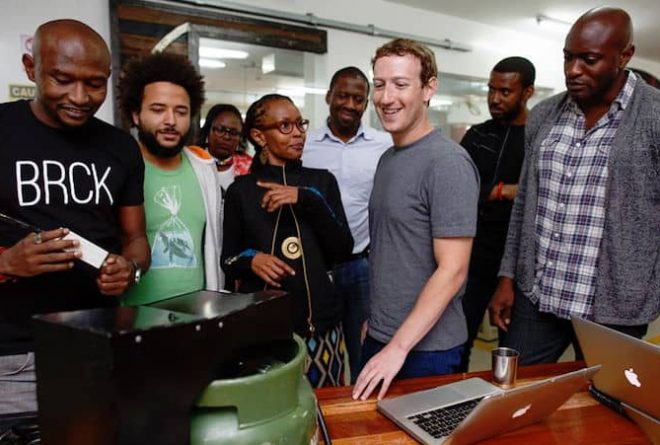 "Mark Zuckerberg in Nairobi ""to learn about mobile money"""