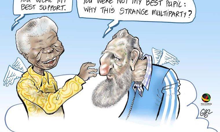 Cartoon: Mandela meets Castro