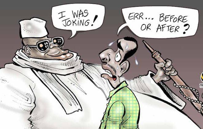 Cartoon: The many faces of President Yahya Jammeh