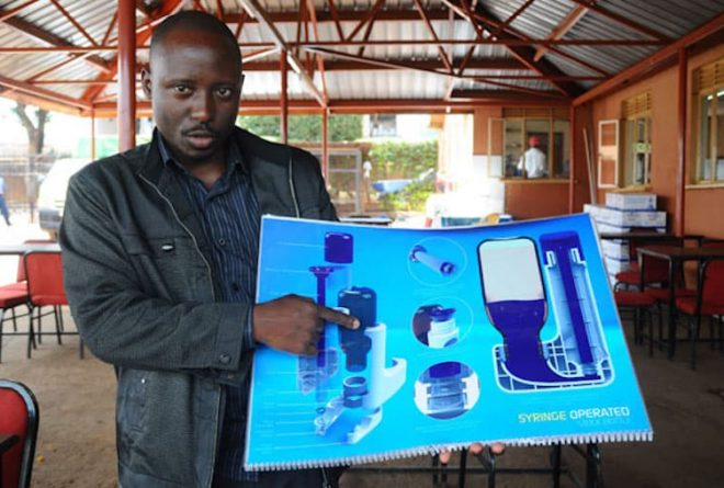 Meet first Ugandan inventor to hold a patent for safety liquid dosing dispenser