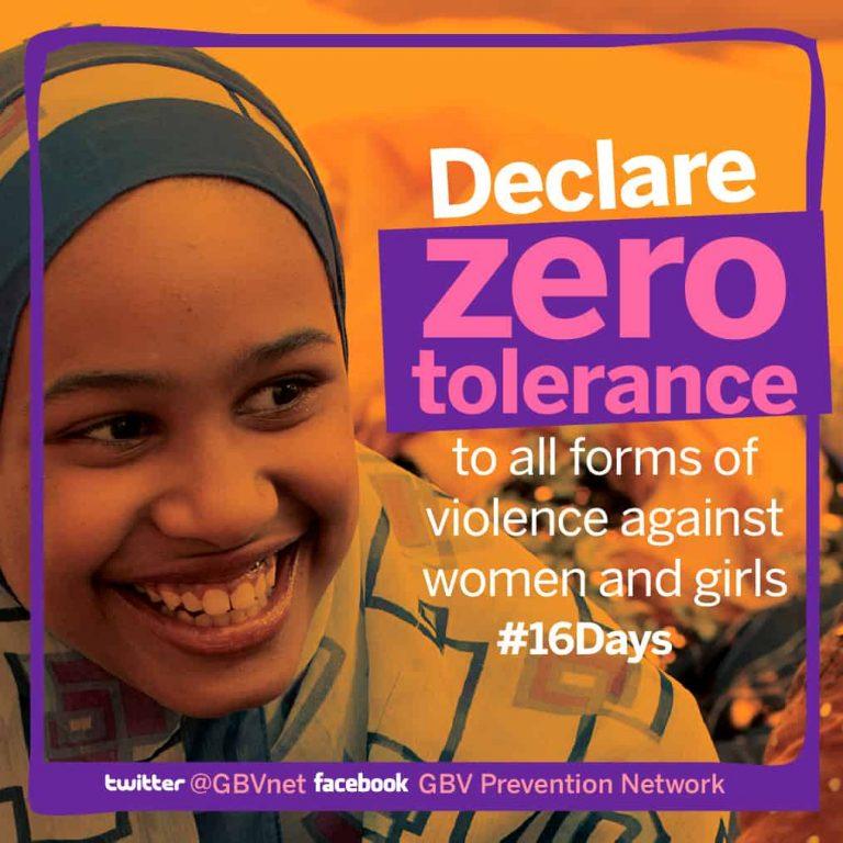 Zero Tolerance to violence