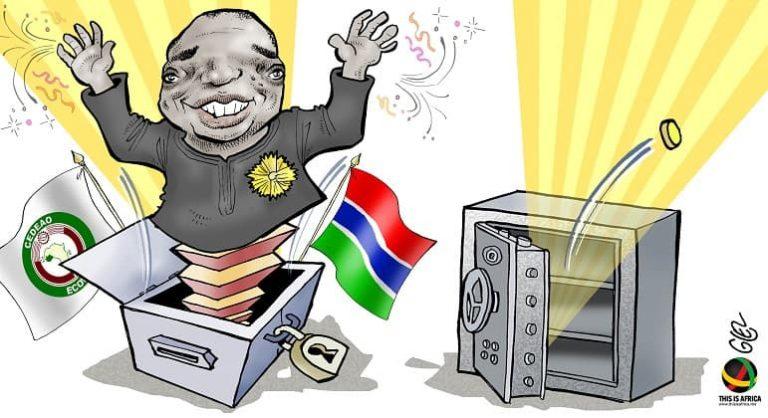 The Gambia: Dawn of a new era. Cartoon