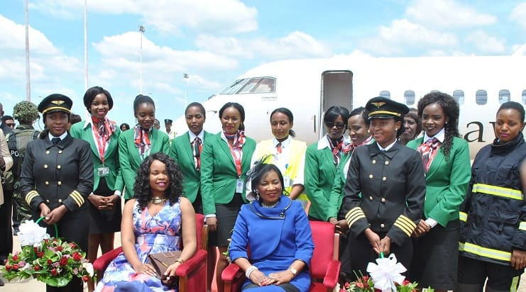 First all-female crew flight by Malawian Airlines