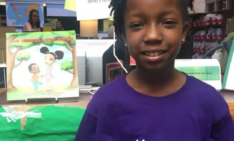 Celebrating Black Girl Magic: 8 year old girl writes best seller on caring and dealing with annoying little brother