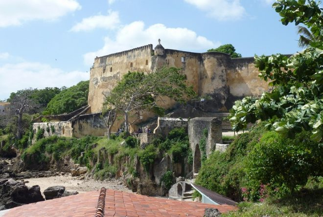 Greetings from Fort Jesus in Mombasa