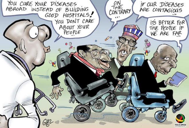 Cartoon: African presidents and foreign medical trips