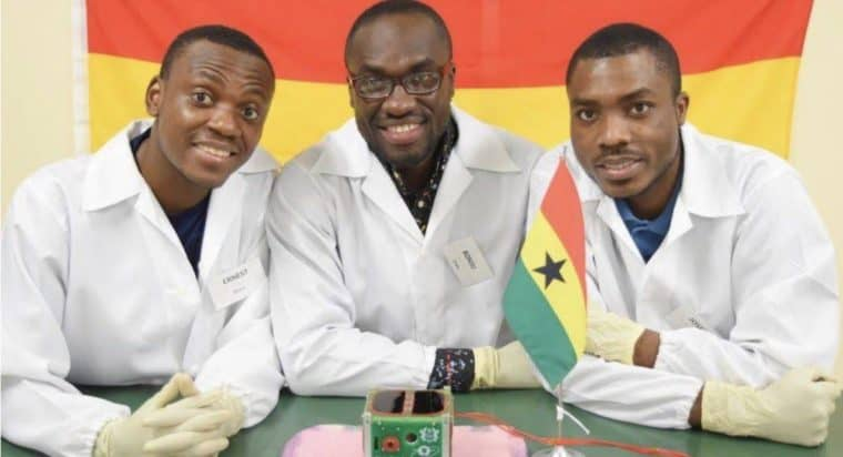 Three Ghanaian students launch Ghana's first satellite, GhanaSat1 to space