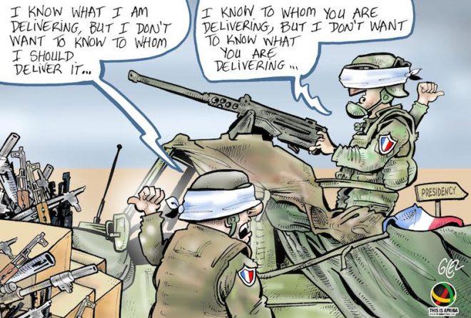 Cartoon- France's role in the 1994 Rwandan Genocide: a disgraceful legacy