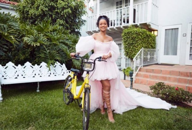 Rihanna's Clara Lionel Foundation supports education in Malawi by providing bicycles for girls