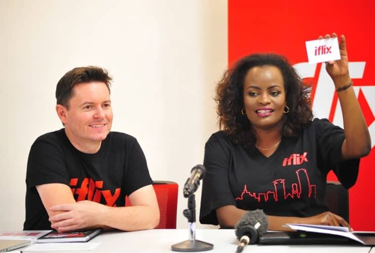LeftGeneral-Manager-Paul-Coogan-and-Right-Marketing-Manager-Bernice-Macharia-introduce-iFlix-at-the-media-roundtable-on-29th-August-at-Aspire-Center- Press Pictures
