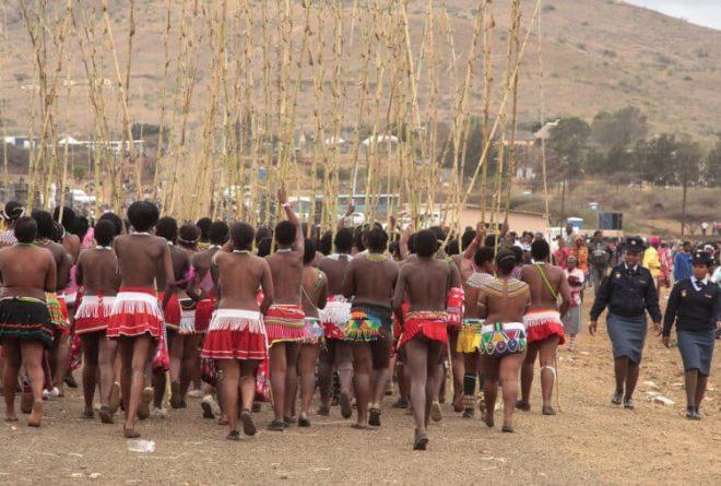 uMkhosi woMhlanga Zulu Reed Dance held in KwaZulu-Natal