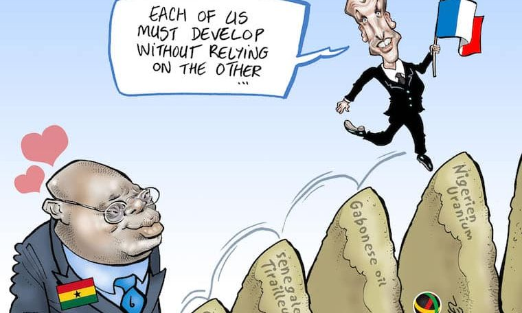 Cartoon: Ghanaian President Akufo-Addo calls for Africa to end its dependency on the West
