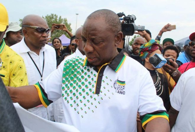 S.Africa's struggling ANC elects Ramaphosa as new head