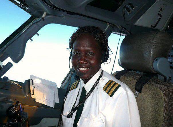 South Sudan's first female pilot Aluel Bol Aluenge rises to the position of Captain