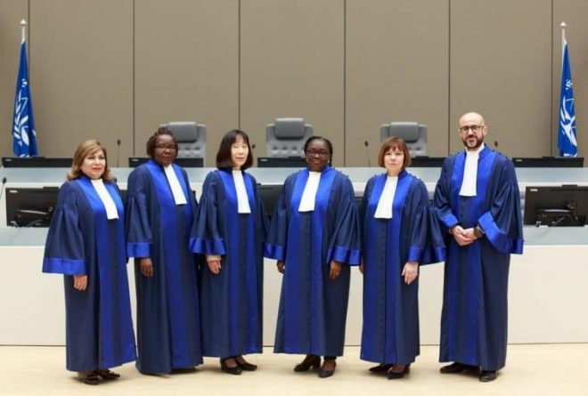 Two African judges sworn in as new judges at the International Criminal Court