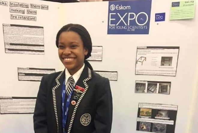 South Africa: 17 year old Gabriella Mogale creates solution to end shack fires