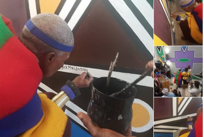 Celebrated South African artist Esther Mahlangu's Joburg mural is #StuffOfLegends