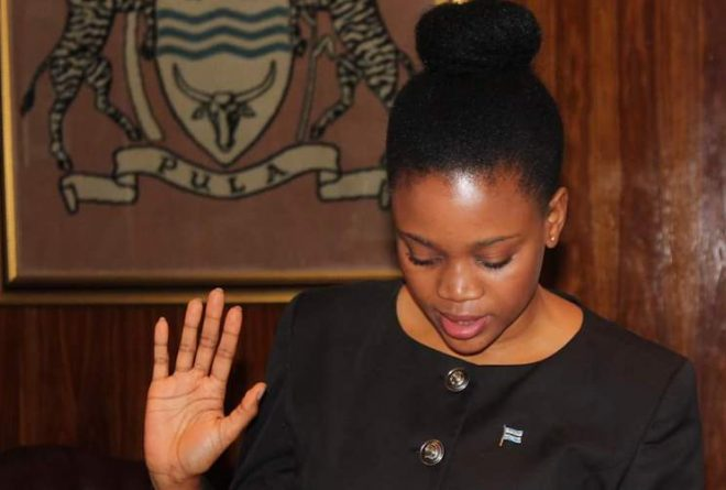 Youngest Batswana Cabinet Minister Bogolo J Kenewendo is Career Goals
