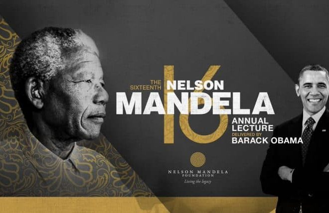President Barack Obama to speak at the 16th Nelson Mandela Annual Lecture