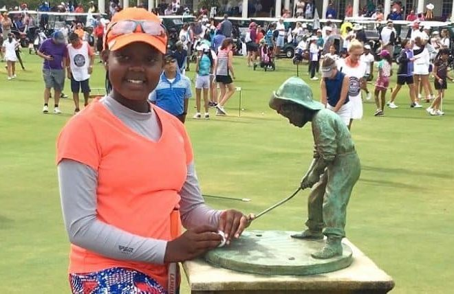 Channelle Wangari, 11 year-old Kenyan golfer who's world number 9 in Kids Golf