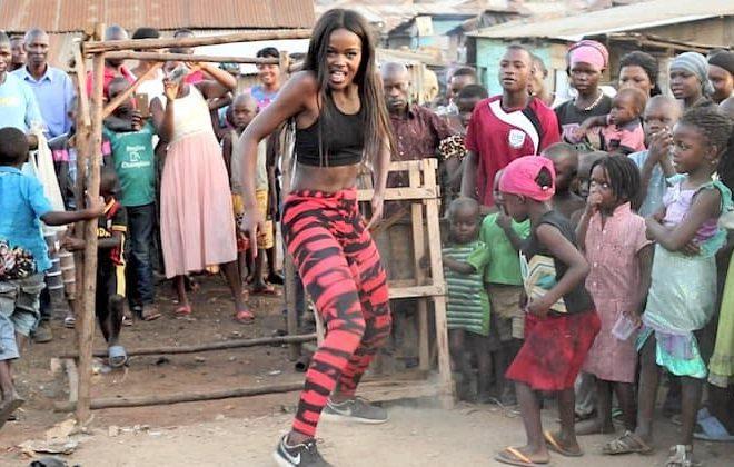 Rwandan-born dancer and choreographer Sherri Silver at MTV Video Music Awards