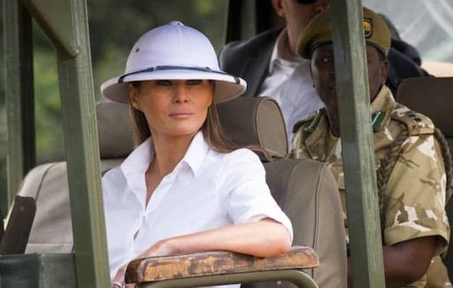Melania's colonialist cosplay takes centre stage