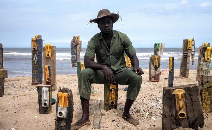 "Serge Attukwei Clottey: The eccentric Ghanaian artist who pioneered ""Afrogallonism"