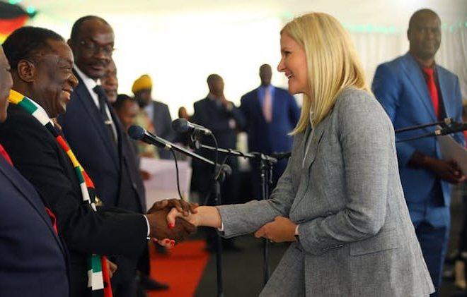 Mnangagwa's been wooing Zimbabwe's white sports heroes. Here's why