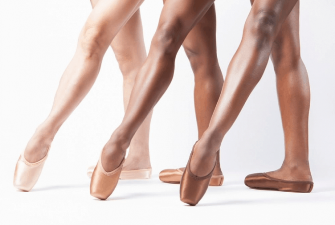 Skin appropriate brown and bronze ballet shoes for dancers of colour