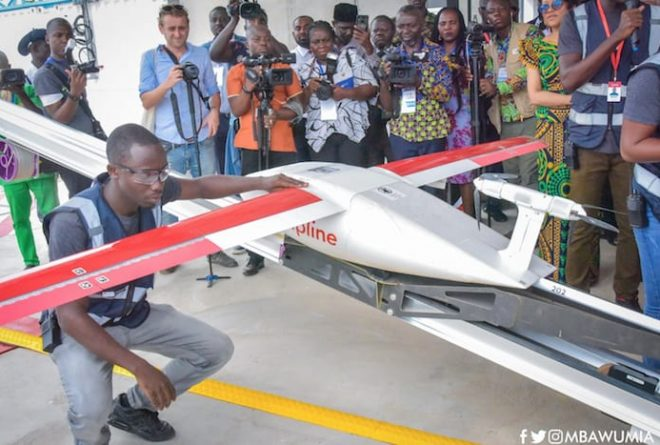 Ghana starts using drones to deliver blood products