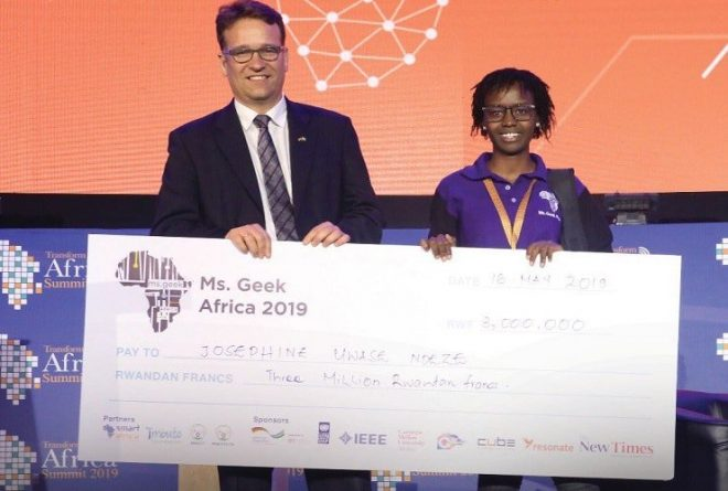 Josephine Uwase Ndeze of DRC crowned Miss Geek Africa 2019
