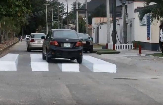 O2 Academy in Lagos designs 3D zebra crossing to reduce accidents