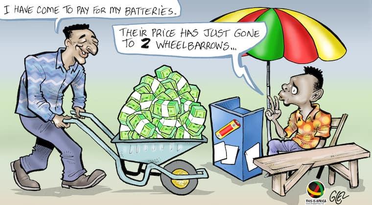 Cartoon: Zimbabwe reintroduces the Zim Dollar