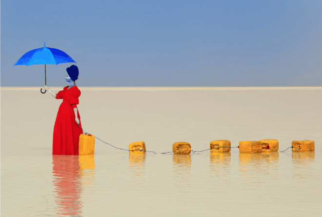 Aïda Muluneh's 'Water Life' highlights water scarcity and its burden on women